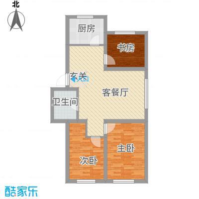 南风新苑87.50㎡户型
