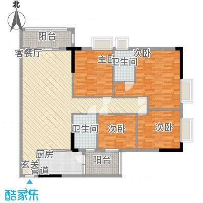 锦绣华景151.00㎡4门0户型