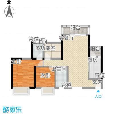 三水・帝景湾85.46㎡12座04单位户型