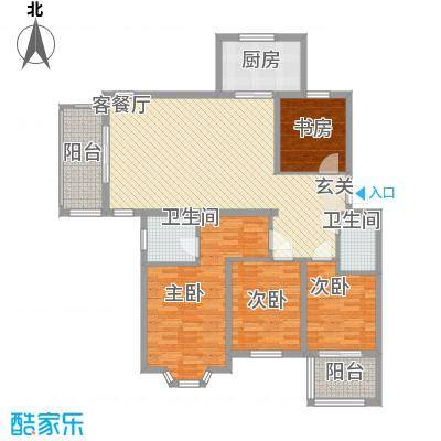 盛世豪庭124.10㎡A-7户型4室2厅2卫1厨