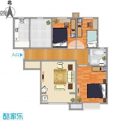 天洋翠堤湾三室两厅一卫98.5m2-副本