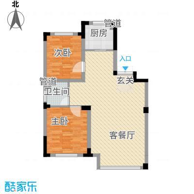 龙湾壹品5.50㎡A3/4#A户型2室2厅1卫1厨