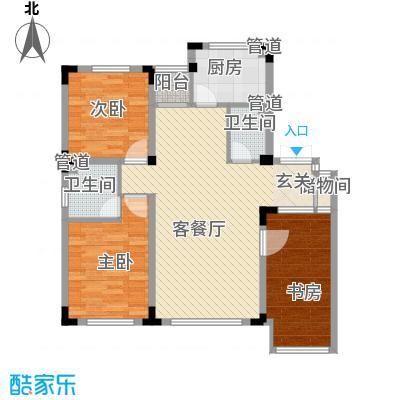 龙湾壹品114.57㎡A7/8#A户型3室2厅2卫1厨