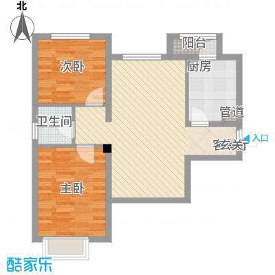 歌华中奥广场・中奥花园82.00㎡户型