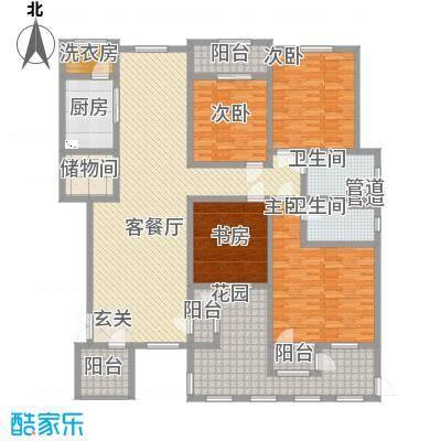滨江壹号2.50㎡洋房3层效果图户型4室2厅2卫
