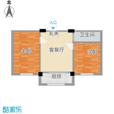 竹林・金地华府7.58㎡户型2室1厅1卫1厨