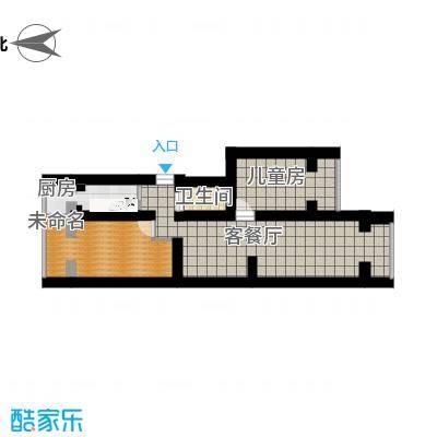 北京_四平园3居室_尺寸-空房
