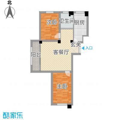恒嘉・静海蓝湾83.00㎡D户型2室2厅1卫1厨