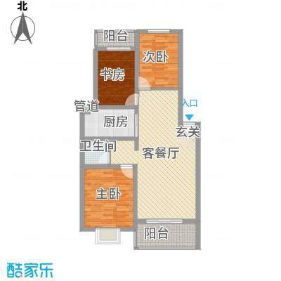 恒嘉・静海蓝湾11.00㎡F户型3室2厅1卫1厨