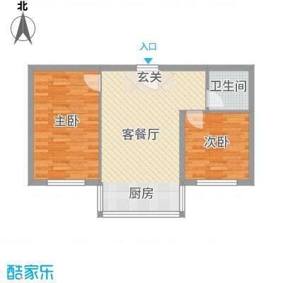 铭丰渤海明珠家园71.68㎡户型2室1厅1卫1厨