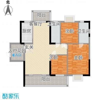 豪景苑12.85㎡503单张(350x200H)_编辑户型3室2厅2卫1厨