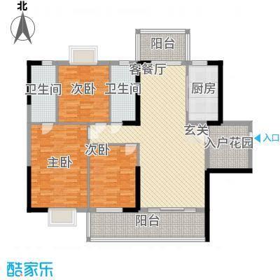 豪景苑12.20㎡502单张(350x200H)_编辑户型3室2厅2卫1厨