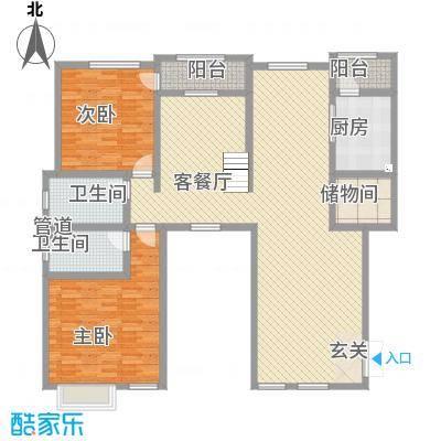 滨江壹号171.60㎡户型2室2厅2卫
