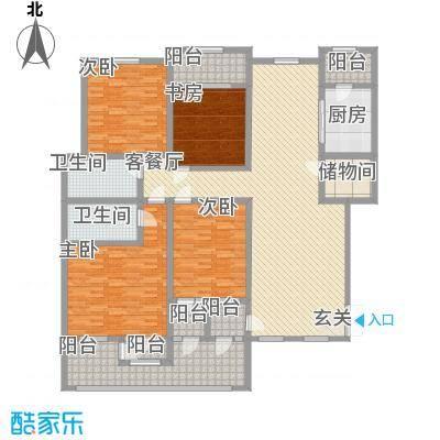 滨江壹号223.20㎡户型4室2厅2卫