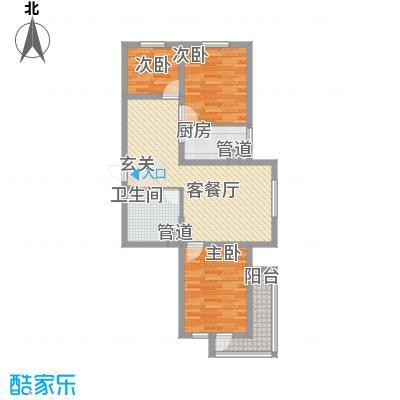 广厦新城29#楼1#户型3室2厅1卫