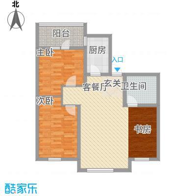 广厦新城18.00㎡31、33#楼2#户型3室2厅1卫
