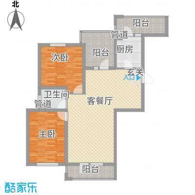 丰远・泗水玫瑰城13.56㎡高层E8-3户型2室2厅1卫