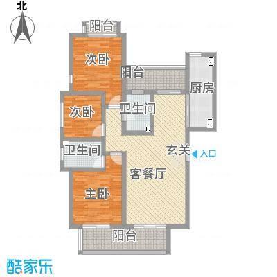 教授花园IV期碧山临海126.00㎡户型3室2厅2卫1厨