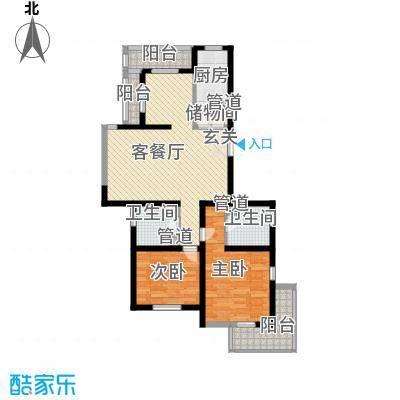 教授花园IV期碧山临海113.00㎡户型2室2厅2卫1厨