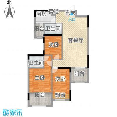 大华・富贵世家6.20㎡6#一单元02、03号房户型