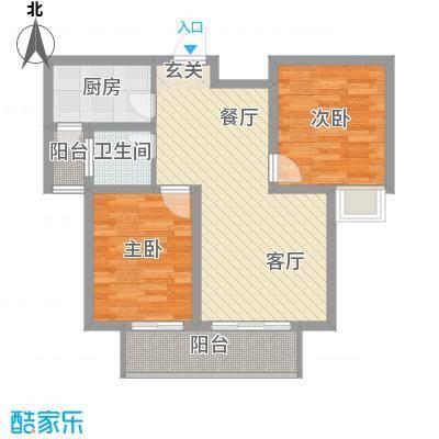 新城国际88.25㎡一期D户型3室2厅1卫1厨