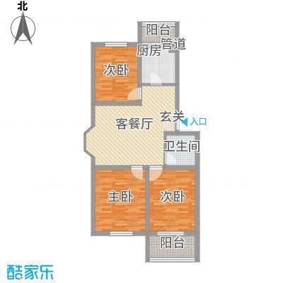 梧桐花园二期4.20㎡-5户型3室2厅1卫