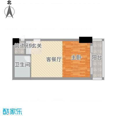 泰兴国际47.31㎡6、9、12、15层C1户型1室1厅1卫