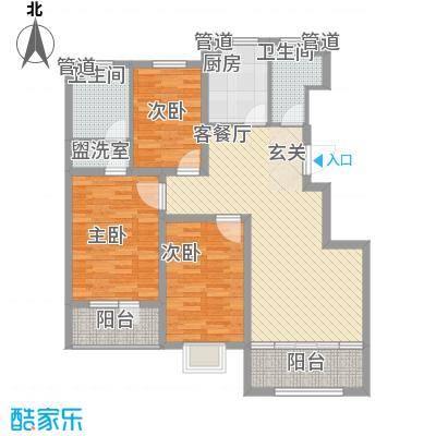 通泰观海首府123.14㎡A-1户型3室2厅2卫1厨