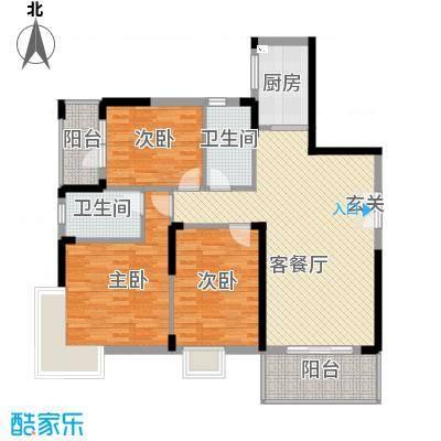 水木天骄4A户型3室2厅2卫1厨