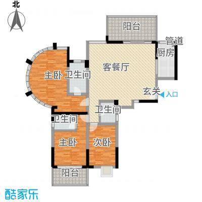 水木天骄3A户型3室2厅2卫1厨