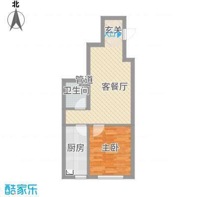 辽阳凯旋门广场52.35㎡户型