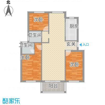 日照外滩・海洋世家114.00㎡户型3室2厅2卫1厨