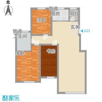 锦绣澜湾11.52㎡c区4户型2室2厅1卫1厨