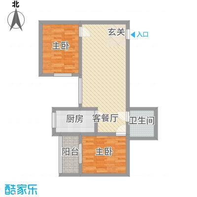 龙悦湾三期85.80㎡c户型2室1厅1卫1厨