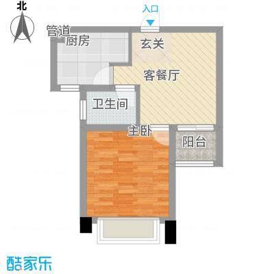 世纪华城52.40㎡10#户型1室2厅1卫1厨