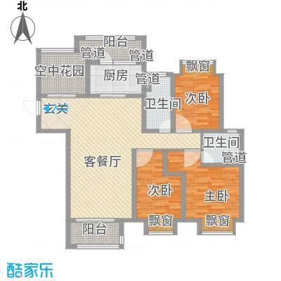 九龙仓繁华里14.00㎡140户型4室2厅2卫1厨