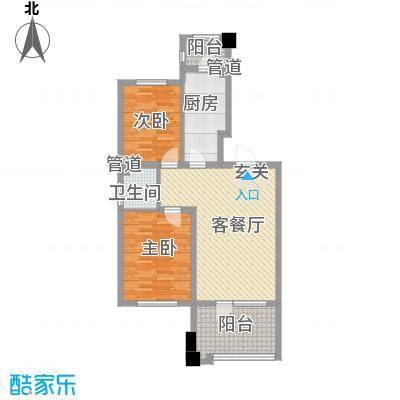 丰远・泗水玫瑰城86.65㎡高层32#E5-2户型2室2厅1卫