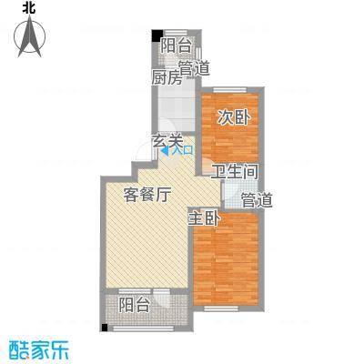 丰远・泗水玫瑰城85.20㎡高层E7标准户型2室2厅1卫