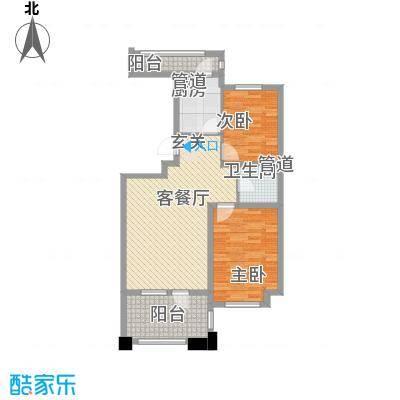 丰远・泗水玫瑰城88.71㎡高层31#E17-3户型2室2厅1卫