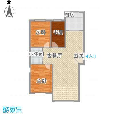 富甲之邦11.35㎡A户型3室2厅1卫1厨