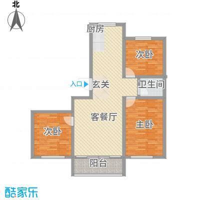 高山明珠15.65㎡户型3室2厅1卫1厨