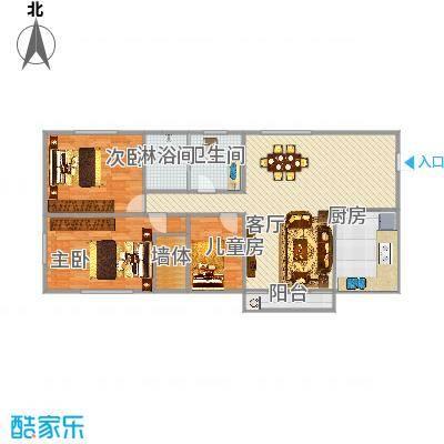 金龙花园3房2厅1卫1阳台