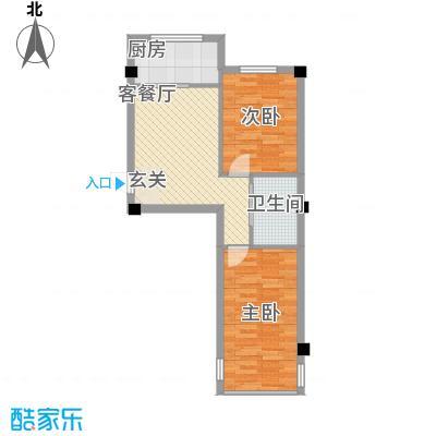 竹林・金地华府68.11㎡1户型2室1厅1卫1厨