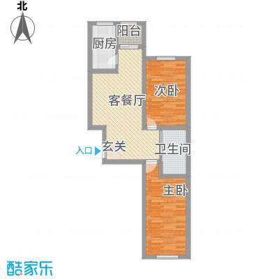 恒嘉・静海蓝湾7.00㎡C户型2室2厅1卫1厨