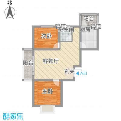 富东景苑83.00㎡F户型2室2厅1卫1厨