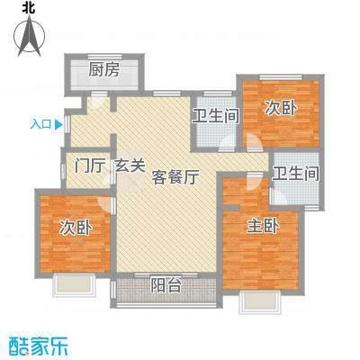 水木清华三期147.00㎡C13b户型