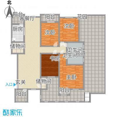 滨江壹号2.50㎡户型4室2厅2卫