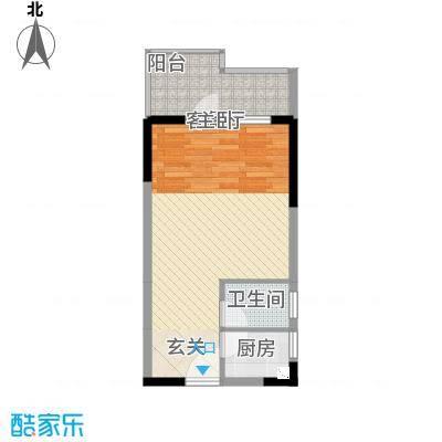 国明・皇御苑47.00㎡A2/A3户型1室1厅1卫1厨