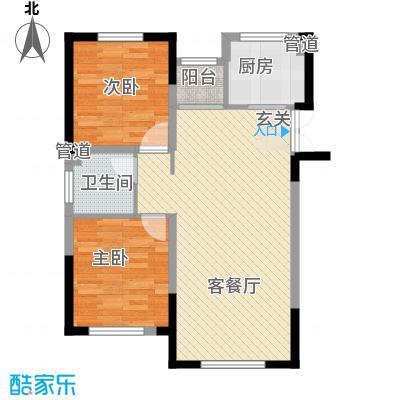 龙湾壹品1.13㎡A1#A户型2室2厅1卫1厨