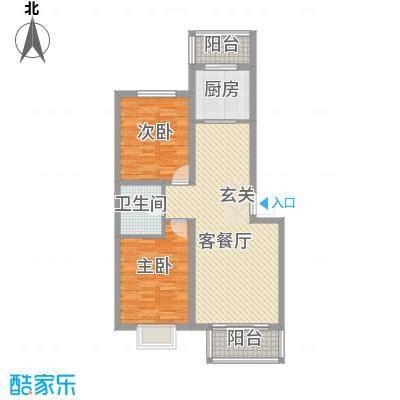 嘉晟阳光城12.64㎡8B户型2室2厅1卫1厨